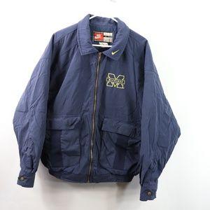 90s Nike Mens Medium Michigan Wolverines Jacket